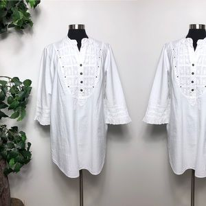 Soft Surroundings White Cotton Tunic Size - XL